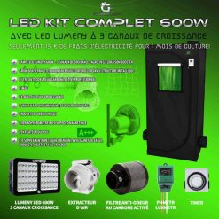 chambre culture kit omplete led 600w