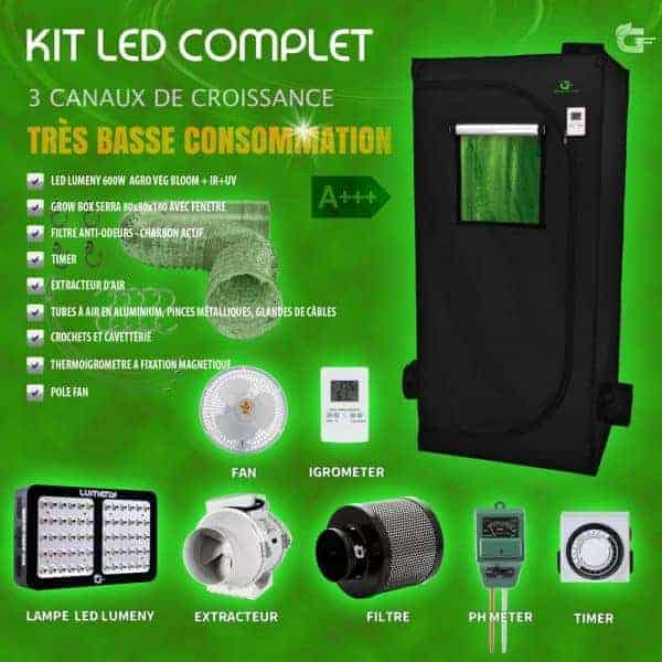 kit chambre culture complete led 600w