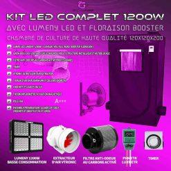Chambre de culture kit complet 1200w 120x120x200