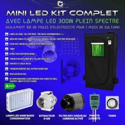 Mini chambre de culture kit complet avec LED 300w tre basse consommation